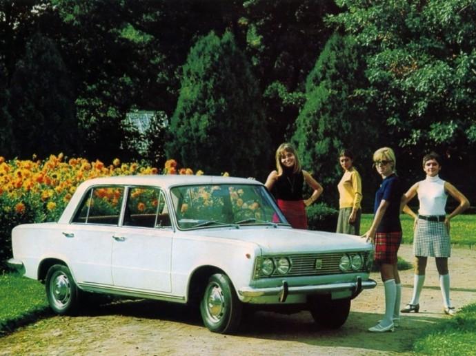 Polski Fiat 125p sedanas