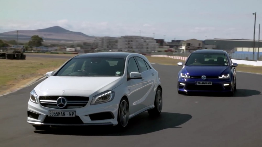 Volkswagen golf r prie mercedes benz a45 amg ir for Mercedes benz volkswagen