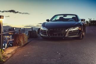 "Į Roberto akiratį patekusi ""Audi R8 GT Spyder"""