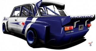 """""""Lada 21011 2000 RS Turbo"""" : Rusiško bolido koncepcija pagal automobilių piešėją Dima Romanov"""
