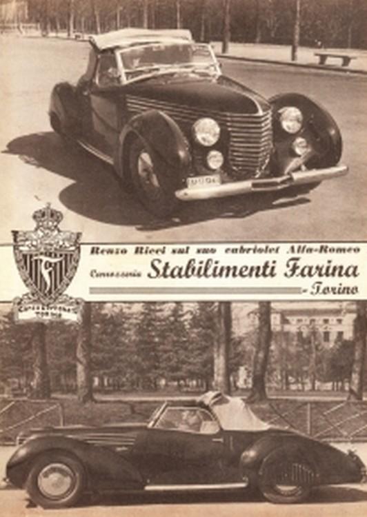1938 6C Alfa Romeo 2300 B Mille Miglia