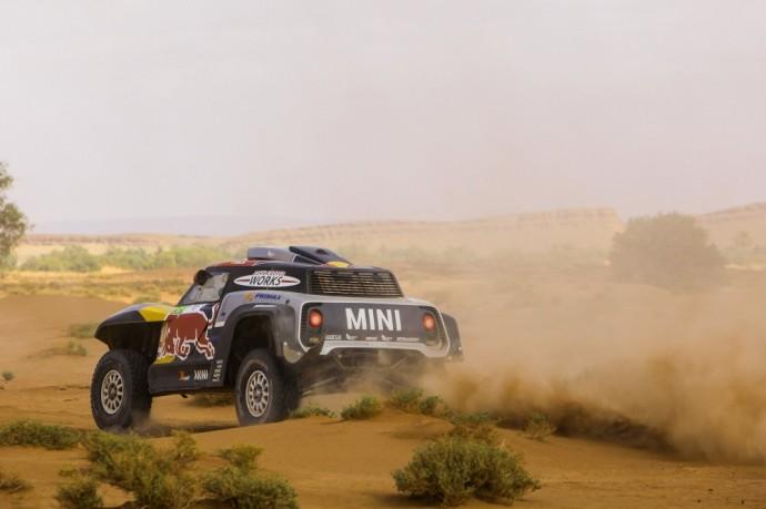 MINI X-Raid bagis Maroko ralyje (T. Tumalovičiaus nuotr.)
