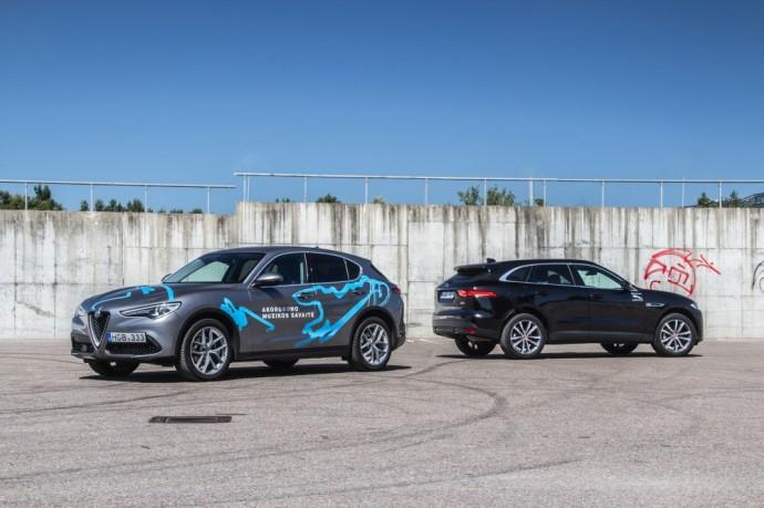 Alfa Romeo Stelvio ir Jaguar F-Pace testas