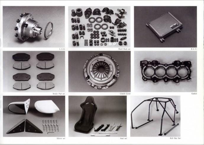 Mugen detalių katalogas