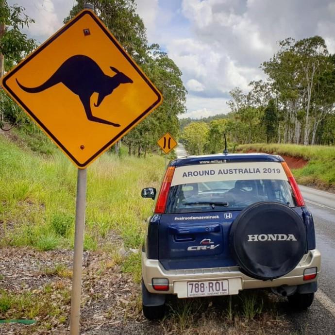Akimirka iš Vitoldo Miliaus kelionės po Australiją