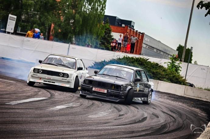 Akimirka iš Lietuvos drifto čempionato etapo Alytuje (nuotr. RD Photo)