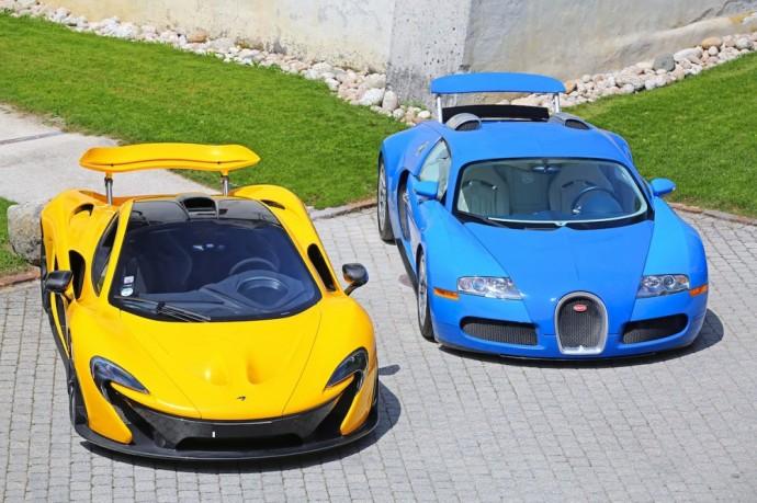 McLaren P1 ir Bugatti Veyron