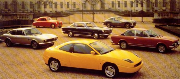 Fiat Coupe su protėviais