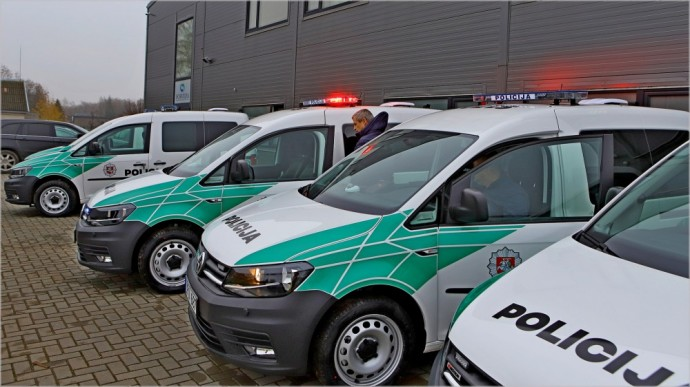 Policijos reikmėms skirtas Volkswagen Caddy