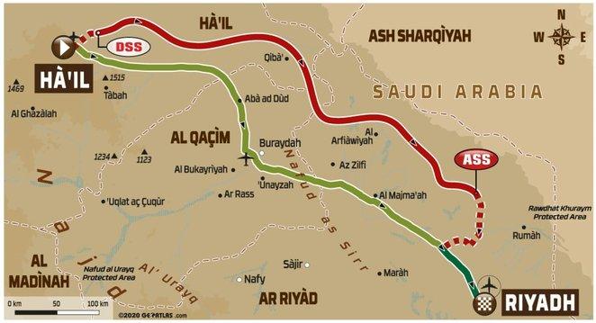 2020-ųjų Dakaro ralio šeštojo etapo maršrutas