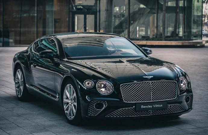 Vilniuje viešintis Bentley Continental GT V8