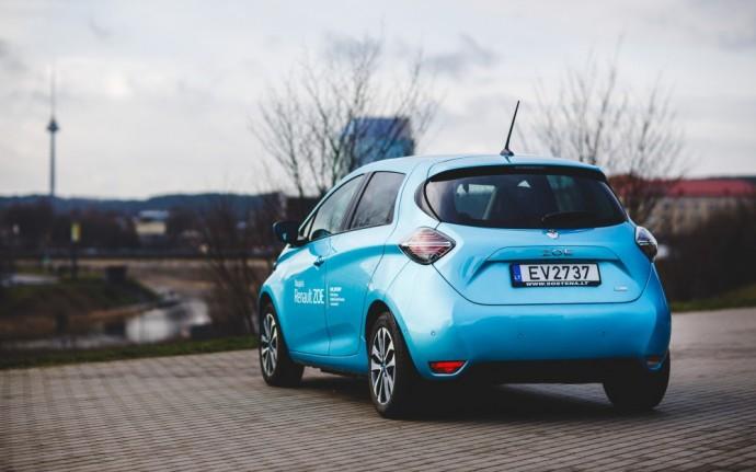 Lietuvoje pasirodęs Renault Zoe elektromobilis