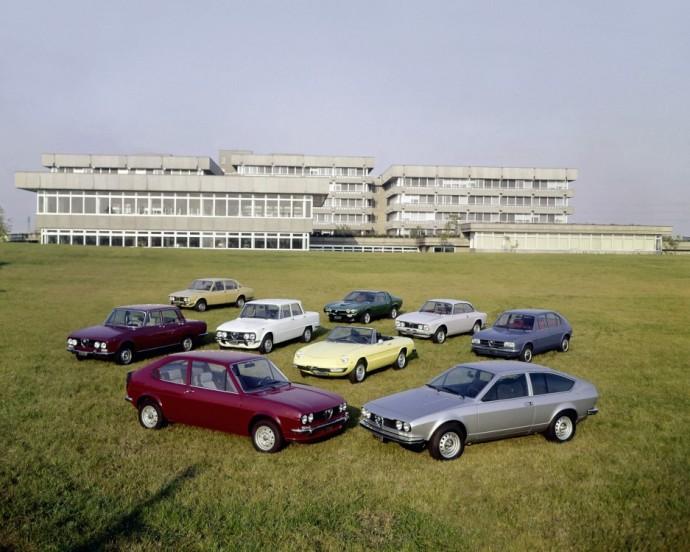 Alfa Romeo Alfasud, Alfa Romeo Alfetta, Alfa Romeo Montreal, Alfa Romeo Spider, Alfa Romeo Giulia