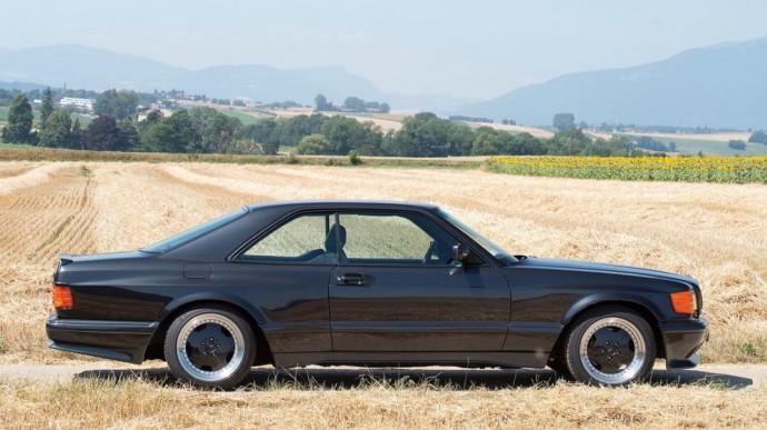 Ribotos laidos Mercedes-Benz 560 SEC Widebody