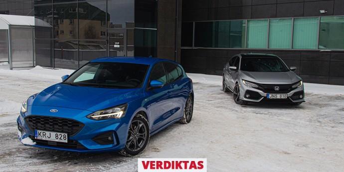 Honda Civic Sport Plus ir Ford Focus ST-Line