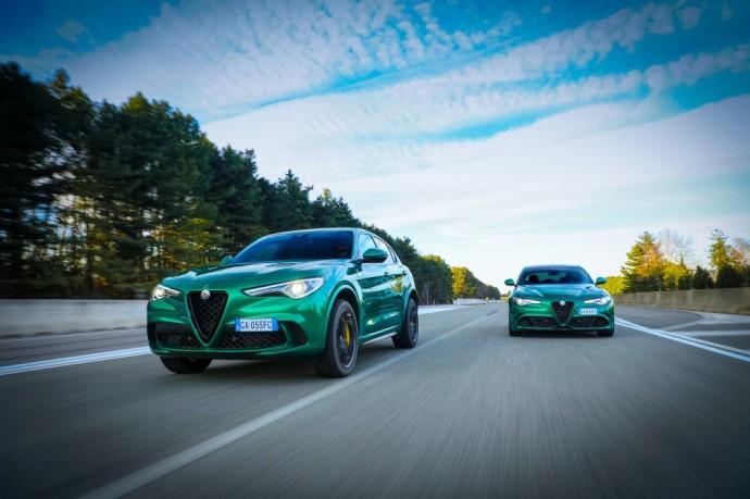Atnaujinti Alfa Romeo Stelvio ir Giulia Quadrifoglio