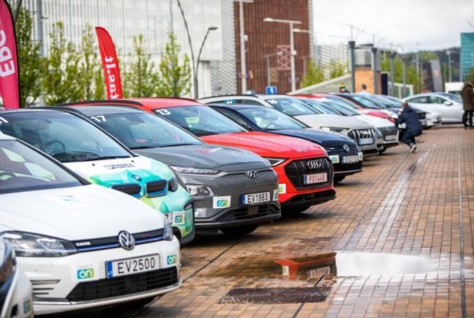 Elektromobilių varžybos Vilniuje