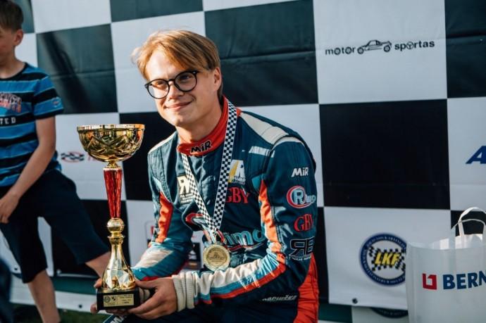 Rokas Baciuška Lietuvos kartingo čempionate