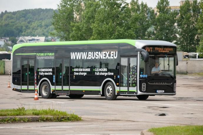 Vilniuje bus bandomas Kinijoje pagamintas elektrinis autobusas