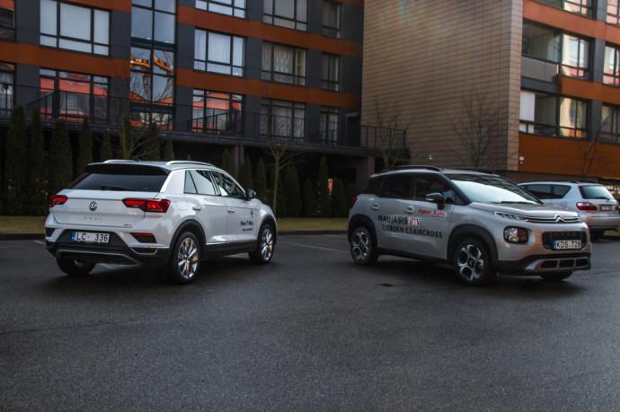 """""""Citroën C3 Aircross"""" ir """"Volkswagen T-Roc"""""""