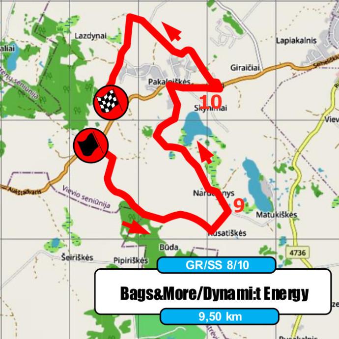 Elektrėnų ralio žemėlapis - D.Butvilo rekomendacijos - GR8-10
