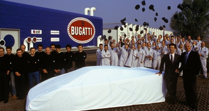 Bugatti EB110 pristatymas