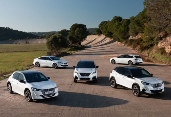 Peugeot modelių gama