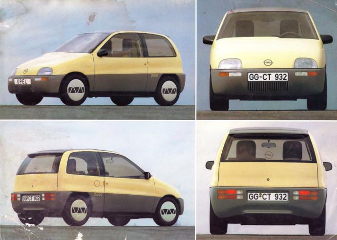 """""""Opel Junior"""": Mažas miesto automobilis su sumaniai suprojektuotu interjeru"""