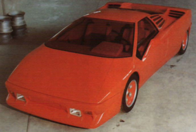 The Lamborghini Diablo as Gandini saw it, before Chrysler had it modified into a less dramatic design.