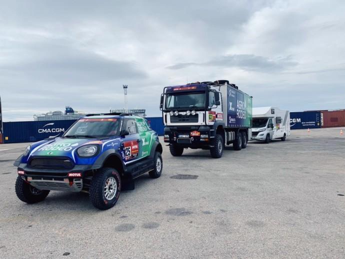 Vaidotas Žala Dakaro techniką pristatė į Marselio uostą