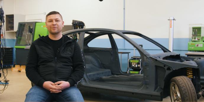 Kauno technikos kolegija kuria studentišką drifto komandą