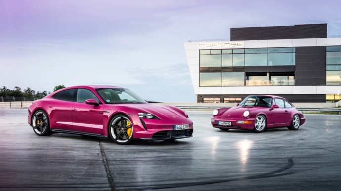 """Rudenį Lietuvoje pasirodys atnaujinti  """"Porsche Taycan"""" gamos modeliai"""